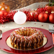 Sicilian sweet with dried figs and pastry on the Christmas table - Stock Photo