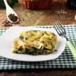 Lasagne with spinach and ricotta — Stock Photo