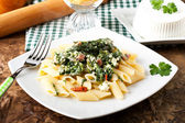 Pasta with ricotta and spinach — Stock Photo