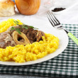 Постер, плакат: Marrowbone with saffron rice