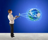 Global Comunication — Foto Stock