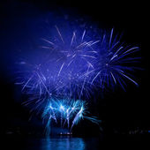 Colorful fireworks on the black sky — Stock Photo