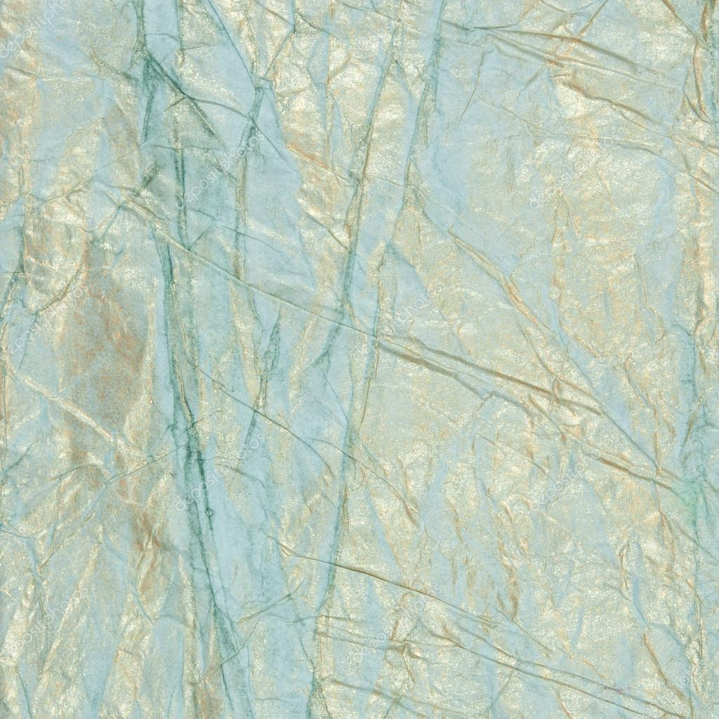 Textured blue with gold creased paper background — Stock ...