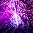 Colorful fireworks on the black sky — Stock Photo #16163653