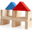 Wooden toy houses isolated on white — Stock Photo #25668395