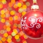 Christmas ball against light — Stock Photo #7411404