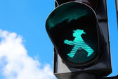 Traffic light in Berlin, East Germany — Stock Photo