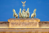Quadriga on Brandenburg Gate at night, Berlin — Stok fotoğraf