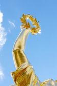 Gold laurel wreath, victory concept. Siegessaule, Berlin — Stock Photo