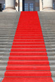 Red carpet stairs, success — Stock Photo