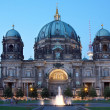 Berlin cathedral or Berliner Dom at night — Stock Photo