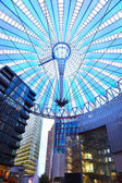 Potsdamer platz, futuristic dome of Sony center in Berlin — Stock Photo