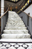 White marble stair in luxury interior — Stock Photo