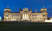 Berlin Reichstag, panoramic view at night — Stock Photo