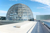 Reichstag Dome, Berlin modern achitecture — Stock Photo