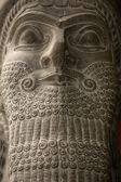 Babylonian statue ancient head — Stock Photo