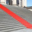 Stock Photo: Red carpet stairs, success