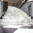 White marble stair in luxury interior - Stock Photo