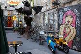 Corte del arte con graffiti en berlín — Foto de Stock