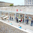 Stock Photo: Topography of Terror museum in Berlin with people