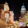 Royalty-Free Stock Photo: Christmas market in Gendarmenmarkt, Berlin