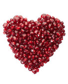Pomegranate seed heart — Stock Photo