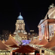 Christmas market in Gendarmenmarkt, Berlin - Stock Photo