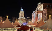 Christmas market in Gendarmenmarkt, Berlin — Stock Photo