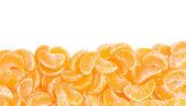 Marco de gajos de naranja mandarina, frontera — Foto de Stock