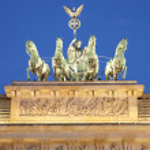Brandenburg gate detail, Berlin — Stock Photo