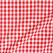 Red and white tablecloth wavy background — Stock Photo #26140847
