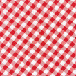 Tablecloth red and white gingham texture background — Stock Photo