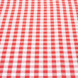 Tablecloth red and white background in perspective — Stock Photo