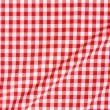 Stock Photo: Red and white tablecloth texture background
