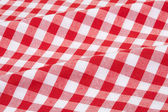 Tablecloth red and white texture background — Stock Photo
