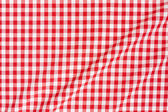 Red and white tablecloth texture background — Stock Photo