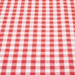 Red and white tablecloth background in perspective — Stock Photo #27089015