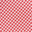 Red and white tablecloth diagonal texture background — Stock Photo