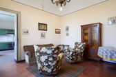 Old living room in country house — Stok fotoğraf