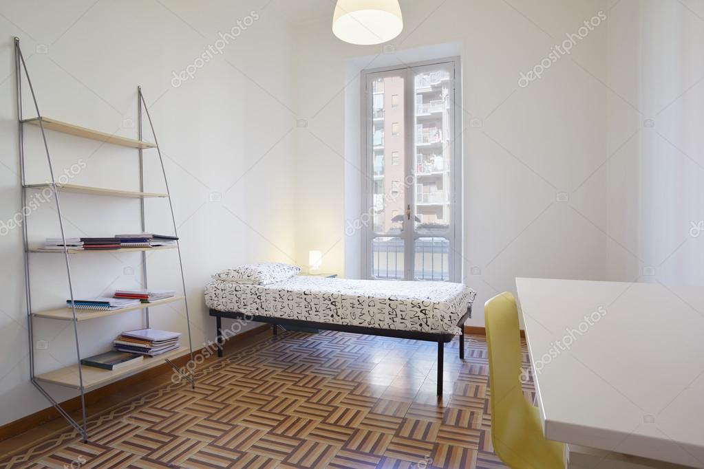 Quarto de solteiro, design de interiores simples  ~ Quarto Solteiro Design