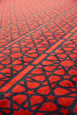 Carpet with stars decoration in arabic mosque — Photo