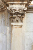 Corinthian column and capital in roman theatre — Stock Photo