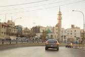Street with minaret in early morning in Amman, Jordan — Stockfoto