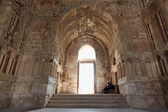 Umayyad Palace interior with guards in Amman — Stock Photo
