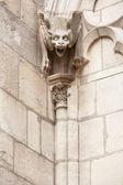 Notre Dame de Paris cathedral gargoyle statue — Stock fotografie