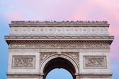 Arc de Triomphe in Paris, roof top with tourists — Stock Photo
