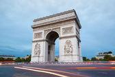 Arc de Triomphe in Paris in the evening — Stock Photo
