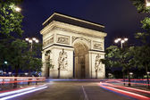 Arc de Triomphe in Paris at night, France — Stock Photo