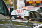 Parisian taxi sign in Paris, France — Stock Photo