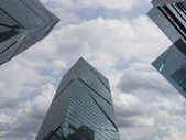 Office buildings, looking-up — Stock Photo